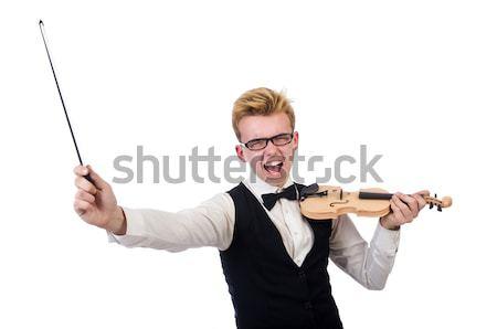 Vrouw pistool geïsoleerd witte zakenman pak Stockfoto © Elnur