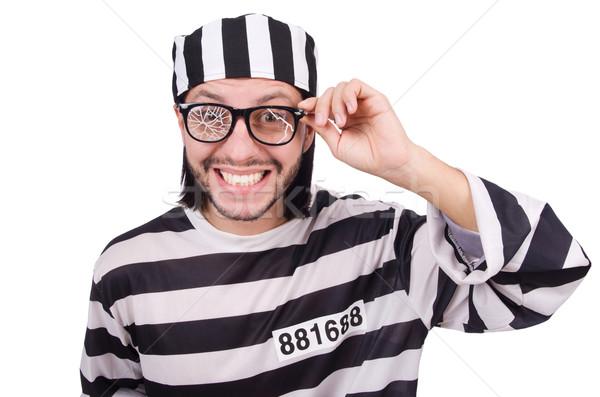 刑務所 受刑者 孤立した 白 眼鏡 法 ストックフォト © Elnur