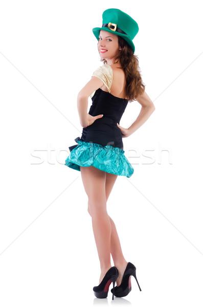 Female model in Irish costume isolated on white Stock photo © Elnur