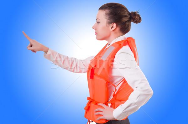 Femme gilet boutons affaires Photo stock © Elnur