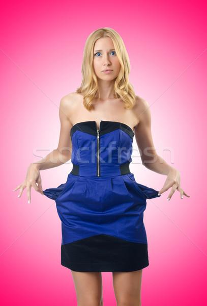 Jeune femme pas d'argent affaires femme corps affaires Photo stock © Elnur