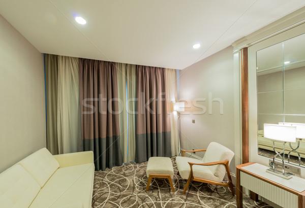 Hotelkamer moderne interieur huis ontwerp reizen Stockfoto © Elnur