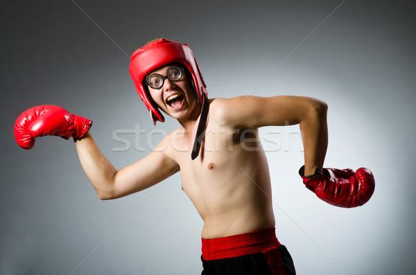 Divertente boxer buio mano sfondo finestra Foto d'archivio © Elnur
