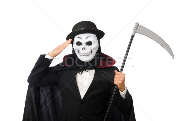 Uomo scary maschera isolato uomo bianco bianco Foto d'archivio © Elnur
