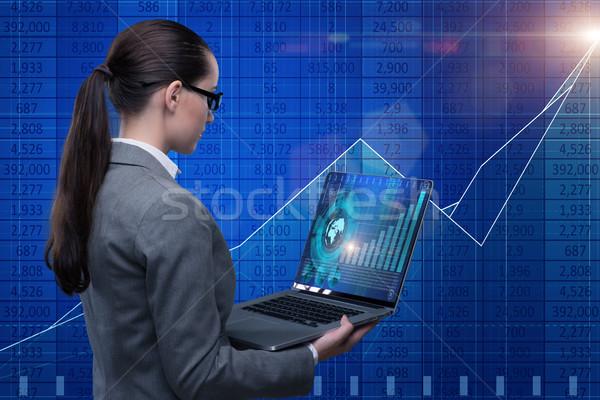 Işkadını borsa ticari kadın para Internet Stok fotoğraf © Elnur