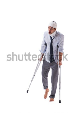 Stock photo: Repairman with spade isolated on white