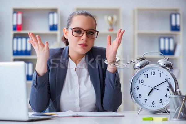 üzletasszony időbeosztás számítógép nő óra munka Stock fotó © Elnur