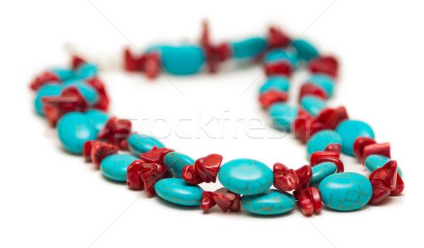 ювелирных ожерелье изолированный белый моде аннотация Сток-фото © Elnur