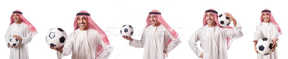 арабских бизнесмен футбола белый человека Футбол Сток-фото © Elnur
