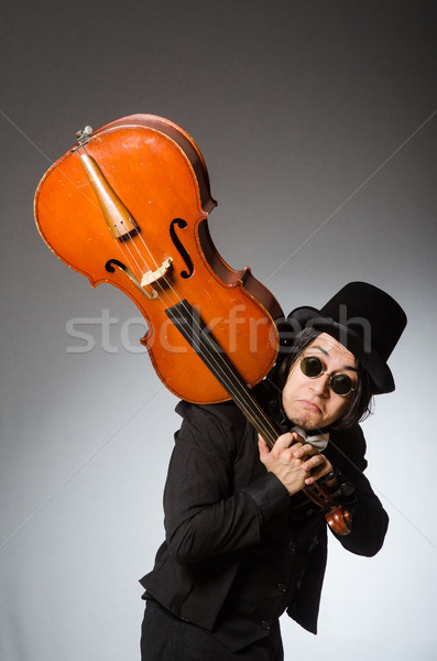 Férfi musical művészet háttér szemüveg koncert Stock fotó © Elnur