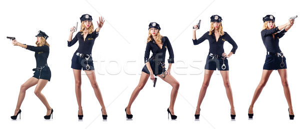 The woman police officer isolated on white Stock photo © Elnur