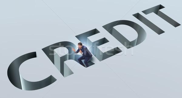 бизнесмен падение ловушка долг кредитных Сток-фото © Elnur