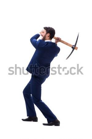 марионеточного бизнесмен изолированный белый бизнеса Dance Сток-фото © Elnur