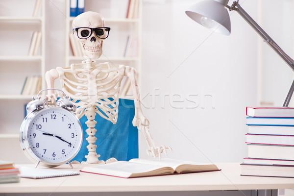 Esqueleto empresario de trabajo oficina negocios libro Foto stock © Elnur