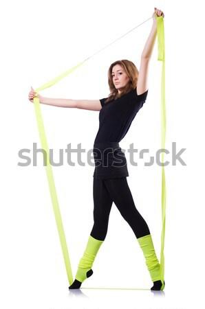 молодые гимнаст белый женщину тело Сток-фото © Elnur
