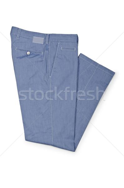 моде брюки белый модель фон джинсов Сток-фото © Elnur