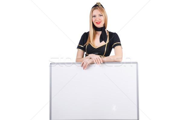 女性 スチュワーデス ボード 顔 セクシー ファッション ストックフォト © Elnur