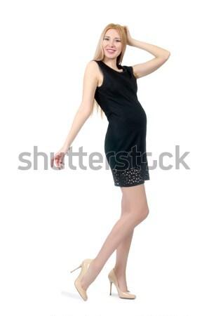 Modello indossare alla moda abbigliamento bianco ragazza Foto d'archivio © Elnur
