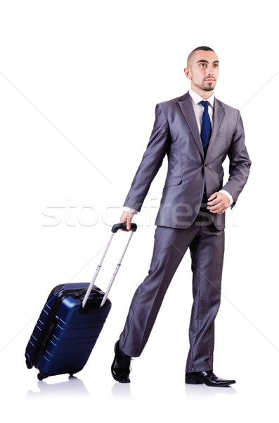 üzletember csomagok fehér üzlet férfi munka Stock fotó © Elnur