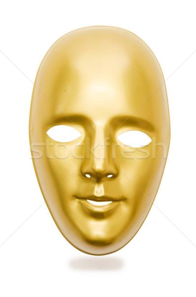 マスク 孤立した 白 顔 背景 ストックフォト © Elnur