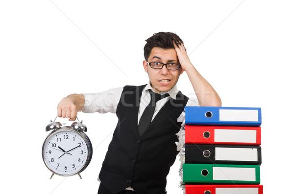 Uomo soddisfare scadenze lavoro imprenditore tempo Foto d'archivio © Elnur