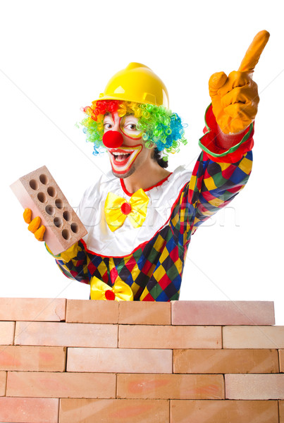 Mauvais construction clown briques homme Photo stock © Elnur