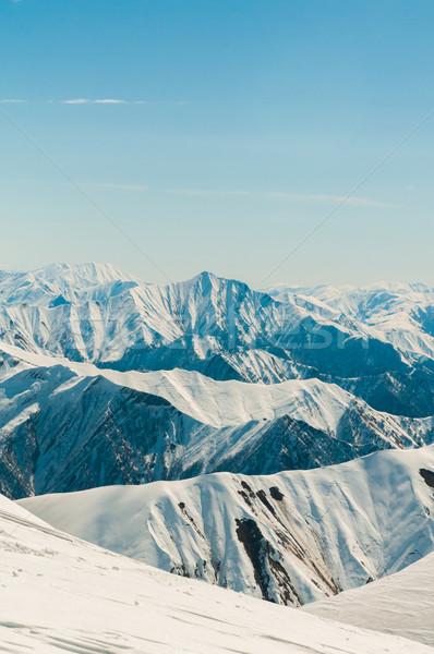 Nieve montanas brillante invierno día paisaje Foto stock © Elnur