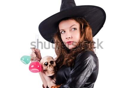сатана Хэллоуин изолированный белый девушки вечеринка Сток-фото © Elnur