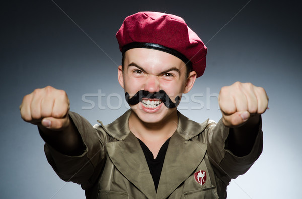 Сток-фото: смешные · солдата · военных · человека · фон · безопасности