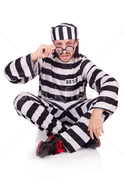 тюрьмы заключенный изолированный белый очки мяча Сток-фото © Elnur
