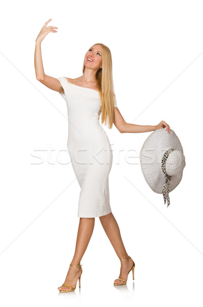 Kadın moda giyim Panama yalıtılmış beyaz Stok fotoğraf © Elnur