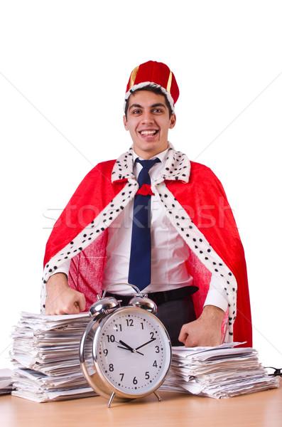 Re imprenditore scartoffie business lavoro tempo Foto d'archivio © Elnur