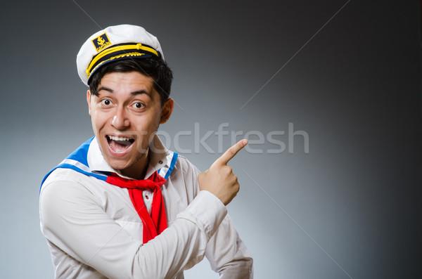 Divertente marinaio indossare Hat uomo felice Foto d'archivio © Elnur