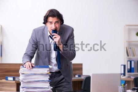 üzletember fegyver fehér üzlet férfi biztonság Stock fotó © Elnur