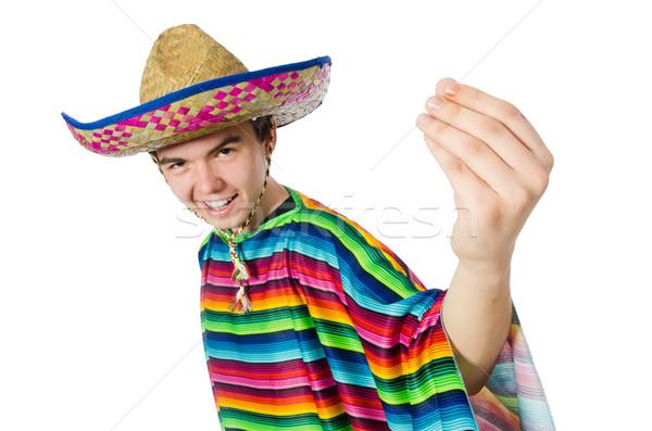 Spanish wearing sombrero in funny concept Stock photo © Elnur