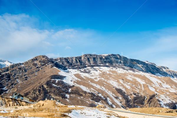 Góry zimą Azerbejdżan krajobraz śniegu niebieski Zdjęcia stock © Elnur