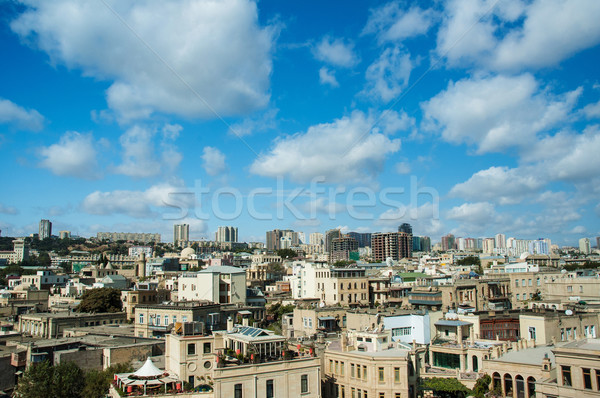 View of Baku Azerbaijan on bright summer day Stock photo © Elnur
