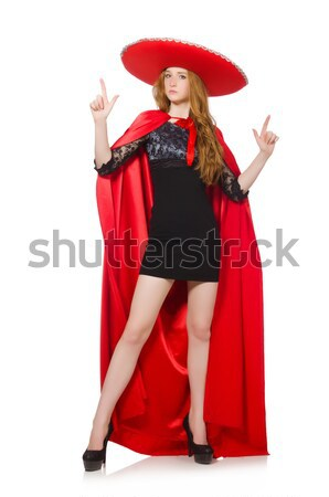 Man dancing spanish dance in red clothing Stock photo © Elnur