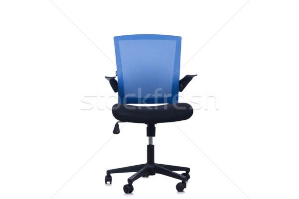 青 事務椅子 孤立した 白 オフィス デザイン ストックフォト © Elnur