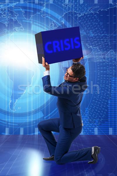 Om de afaceri criza afaceri bani corporativ piaţă Imagine de stoc © Elnur