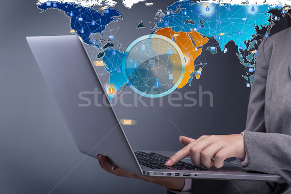 Social networks and online interactions concept Stock photo © Elnur