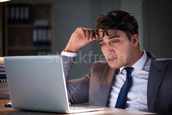 человека служба долго бумаги работу бизнесмен Сток-фото © Elnur