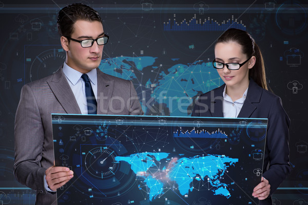 Business concept of virtual collaboration Stock photo © Elnur
