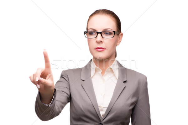 Strict serious businesswoman isolated on white Stock photo © Elnur