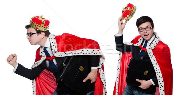 Króla biznesmen korony biuro człowiek garnitur Zdjęcia stock © Elnur