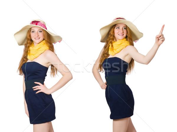 Mulher jovem moda praia modelo roupa feminino Foto stock © Elnur
