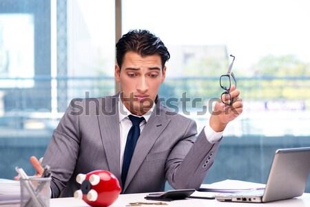 üzletember vér táska izolált fehér férfi Stock fotó © Elnur