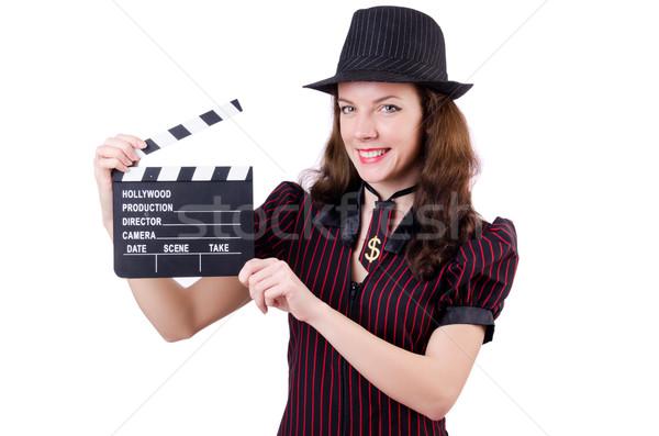 Mulher bandido filme conselho branco negócio Foto stock © Elnur
