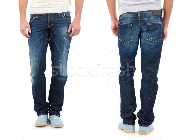 ズボン モデル 孤立した 男 ジーンズ 革 ストックフォト © Elnur