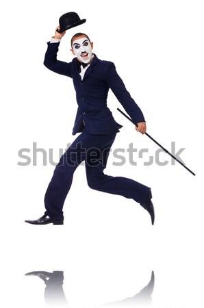 Engraçado homem machado branco negócio escritório Foto stock © Elnur